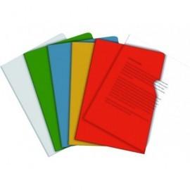 5* Dossier Caja 100 ud A4 Pvc Con uñero Verde 200 micras
