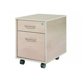 ROCADA Bucks Serie Store 1 caj.+1 caj. Carpetas colgantes Melamina 43x59x58cm Gris-Gris 4004AB02