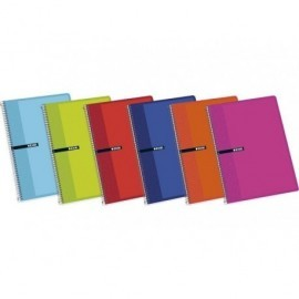 ENRI Cuaderno 5 ud 80h 4º Doble linea Surtido 100430071