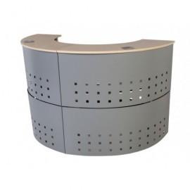 ROCADA Módulo de recepción circular serie Welcome 125x106x38 cm. Haya-aluminio 5100AA01