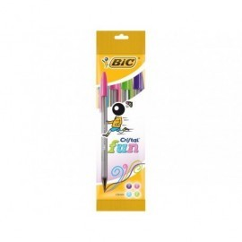 BIC Boligrafo  Cristal Large Fashion Colores surtidos Trazo 0.6 mm Tinta aceite Blíster 4 ud 895792