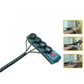 FELLOWES Organizador de cables Zip 2m longitud 20mm grosor negro 99439