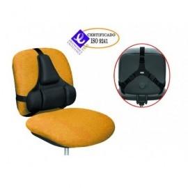 FELLOWES Cojín lumbar Ultimate Professional Series ergonómico negro 8041801