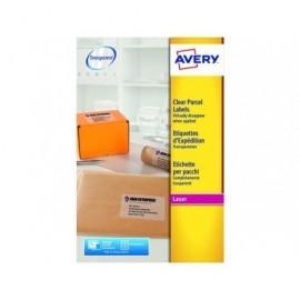 AVERY Etiquetas laser QuickPEEL Caja 25 hojas 200 ud 99,1x67,7 Transparentes L7565-25