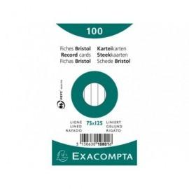 EXACOMPTA Fichas Caja 100 ud Paq. Retráctil Horizontal 10801X