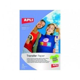 APLI Papel transferencia Inkjet 5 hojas 10247