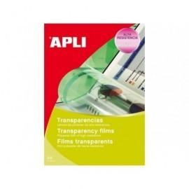 APLI Transparencias Caja de 50 ud De poliester De 100 micras A4 1495