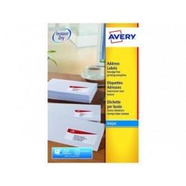 AVERY Etiquetas inkjet Caja 25 hojas 63,5X46,6 Blancas J8161-25