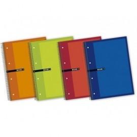 ENRI Cuaderno espiral 5ud 160h A4+ cuadrícula 5x5 Surtido 100430093