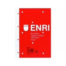 ENRI Recambio de papel 100h Folio cuadrícula 4x4 100430054