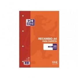 OXFORD Recambio de papel 100h A4 Liso 100430209