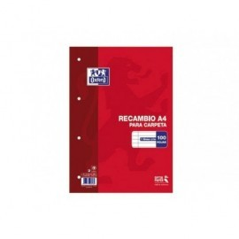 OXFORD Recambio de papel 100h A4 Horizontal 100430210