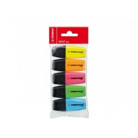 STABILO Marcador fluorescente Mini Estuche 5 ud Trazo 2-5mm Colores surtidos 07/5-11