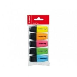 STABILO Marcador fluorescente Boss Mini Estuche 3ud Trazo 2-5mm Colores surtidos 07/3-11