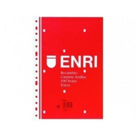 ENRI Recambio de papel 100h Folio cuadrícula 4x4 100430055