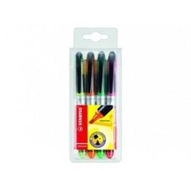 STABILO Marcador fluorescente Navigator Est. 4 ud Trazo 1-3.5mm Tinta liquida Colores surtidos 545/4