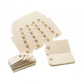 Etiquetas con arandela Cajas de 1000 u. 48 x 85 mm. Sueltas 01131