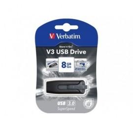 VERBATIM Memoria USB 3.0 Store 'n' Go V3 8 GB gris 49171