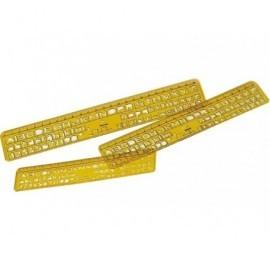FAIBO Plantillas para rotular Pack 3 ud 6/8/10mm 260