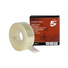 5* Cinta adhesiva Cristal    19 mm x 33 m Alta transparencia