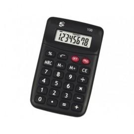 5* Calculadora de bolsillo 108 8 digitos Solar y pila KC-889