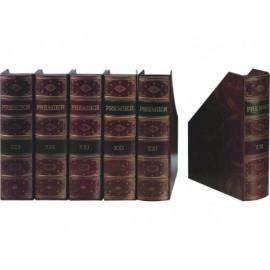 PARDO Revistero Premier A4/folio Lomo curvo Marrón Fabricación artesana 235506