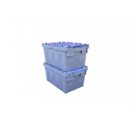 VISO Caja almacenamiento 600x400x305 Bisagras metálicas Polipropileno DSW5536GBW