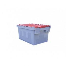 VISO Caja almacenamiento 600X400X305 Gris/rojo Apilable DSW5536GRW