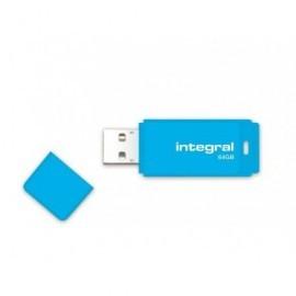 INTEGRAL Memoria USB 2.0 Neon 64 GB azul INFD64GBNEONB