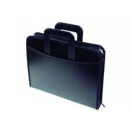 EXACOMPTA Portadocumentos Exafolder Polipropileno 360x340x55mm Negro 4 anillas    55634E