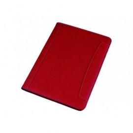 ALASSIO Portabloc Messina símil piel A4 330x240x25mm Rojo 30083
