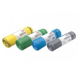 VILEDA Bolsas de basura Industrial extrasuper Rollo 20 ud 90x110 Gris 138751