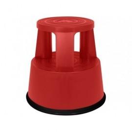 Taburete  Polipropileno Resistente  3soportes y 2 peldaños rojo 440x240mm Hasta150 kg