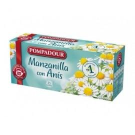 POMPADOUR Infusiones Sabores clásicos Manzanilla con anís Pack 20 ud Bolsas 40207