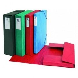 5* Carpetas proyecto A4 Lomo 30 mm Roja Carton plastificado 100315-S