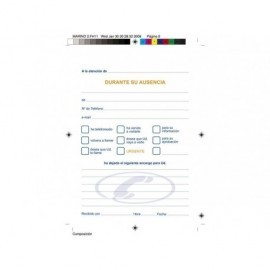 MARINO Talonario respuestas telefonicas 105x150 Castellano 62/1