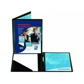 IBERPLAS Carpeta congresos personalizable A4 335x267x8mm Negro 455C