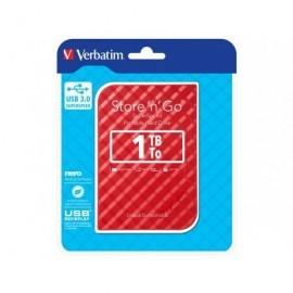 VERBATIM Disco duro portátil USB 3.0 Store 'n' Go GEN2 1TB 2,5'' rojo 53203