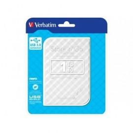 VERBATIM Disco duro portátil USB 3.0 Store 'n' Go GEN2 1TB 2,5'' blanco 53206