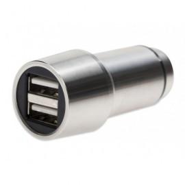 EDNET Cargador para coche usb Premium con martillo de emergencia plateado 84120