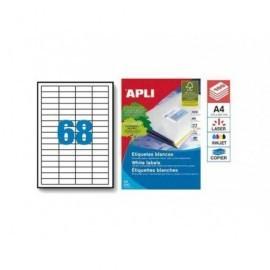 APLI Etiquetas ILC Caja 100 hojas 48,5 x 16,9 Blancas 1282