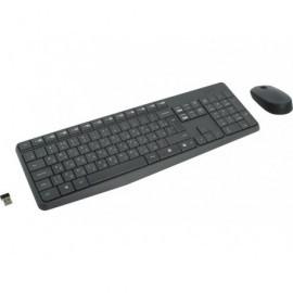 LOGITECH Kit teclado + ratón inalámbricos MK235 óptico QWERTY español usb negro 920-007919