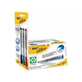 VELLEDA Pack 12 marcadores 1701 azules + blister 3 Liquid ink 942235