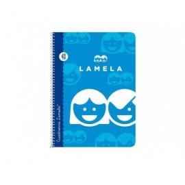 LAMELA Cuaderno cubierta básica 40 hojas 4º Cuadr. 3 Guia 07003