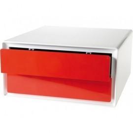 PAPERFLOW Modulo horizontal EASYBOX 2 cajones 60x32,5x40,5 Rojo EBPH.18