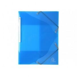 EXACOMPTA Carp.gomas 3 sol.,p.p.calidad premium A4 col.brillantes,material resistente,az claro55672E