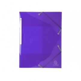 EXACOMPTA Carp.gomas 3 sol.,p.p.calidad premium A4 col.brillantes,material resistente,purpura 55676E