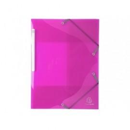 EXACOMPTA Carp.gomas 3 solap.,p.p. calidad premium A4 col.brillantes,material resistente,rosa 55674E