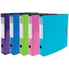 EXACOMPTA Arch.palanca A4 lomo 75mm p.p. foam calidad premium, colores brillantes, 5 c. stdos 53670E