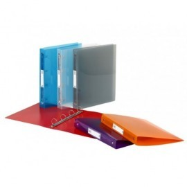 VIQUEL Carp.2 anill.30mm,lomo 40mm,A4 maxi,c.stdos:az,ro,vd,pur,tbco y nj 061483-08